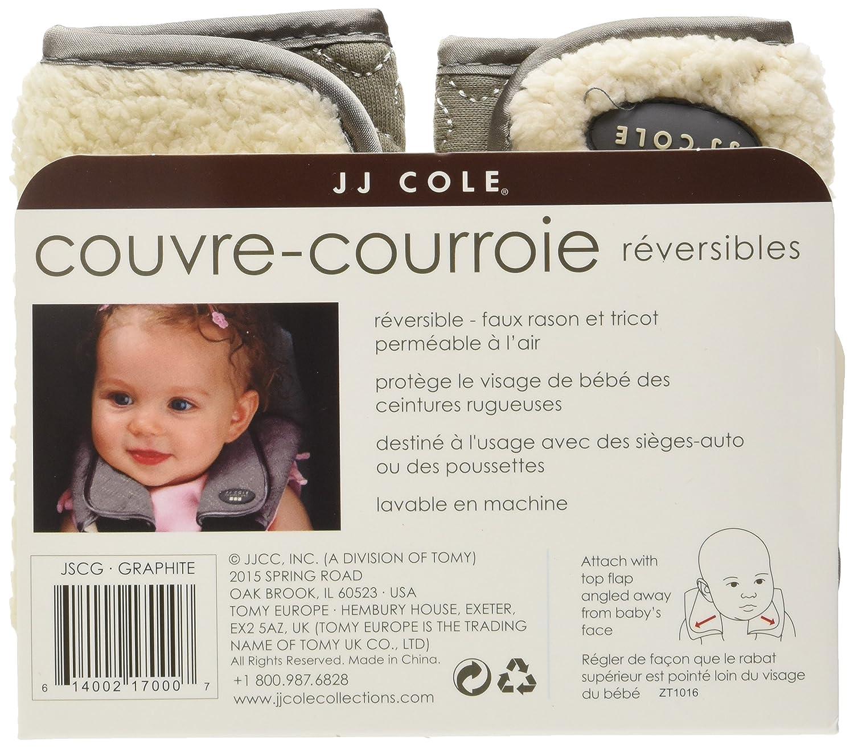 JJ Cole JSCG//SCG graphit Gurtschutz f/ür den Autositz//Kinderwagen Strap Covers - graphite