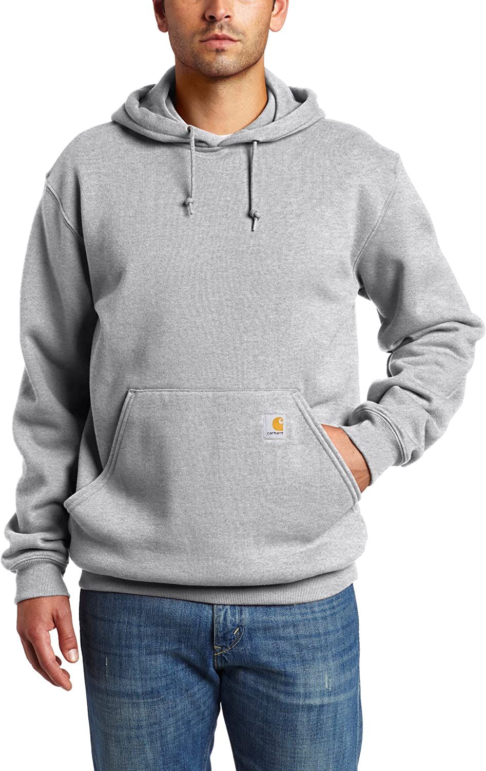 Carhartt Men's Hooded Pullover Sweatshirt Heather Gray
