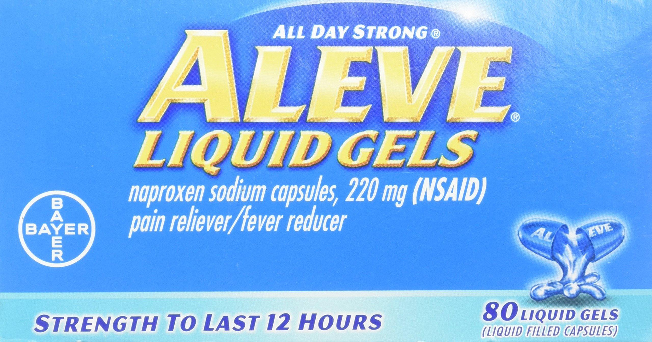 Aleve Pain Reliever Liquid Gels-80 ct.