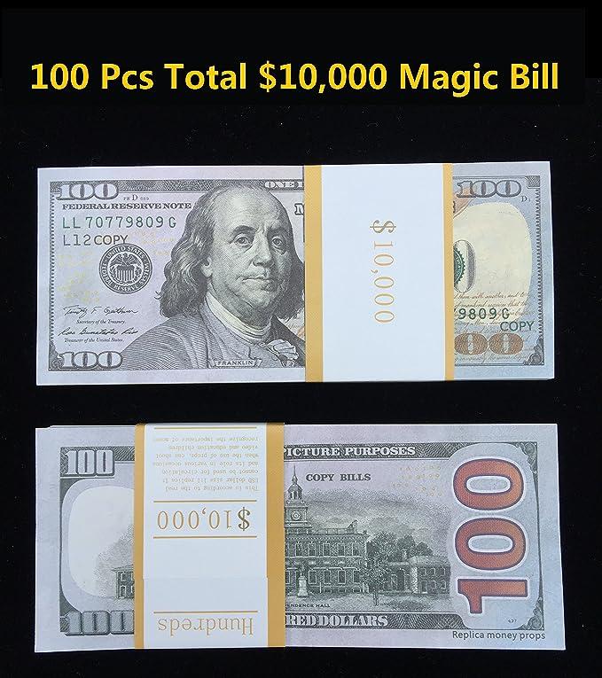 $100X100 Pcs Total $10,000 Dollar COPY MONEY Magic Props