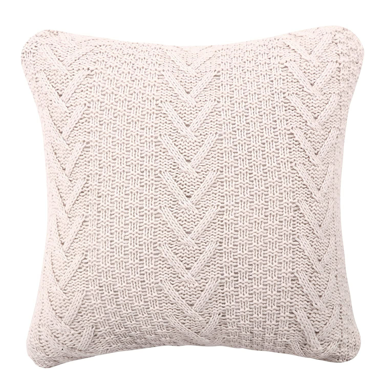 Amazon Com Famibay Knitted Pilllow Covers Decorative Cotton