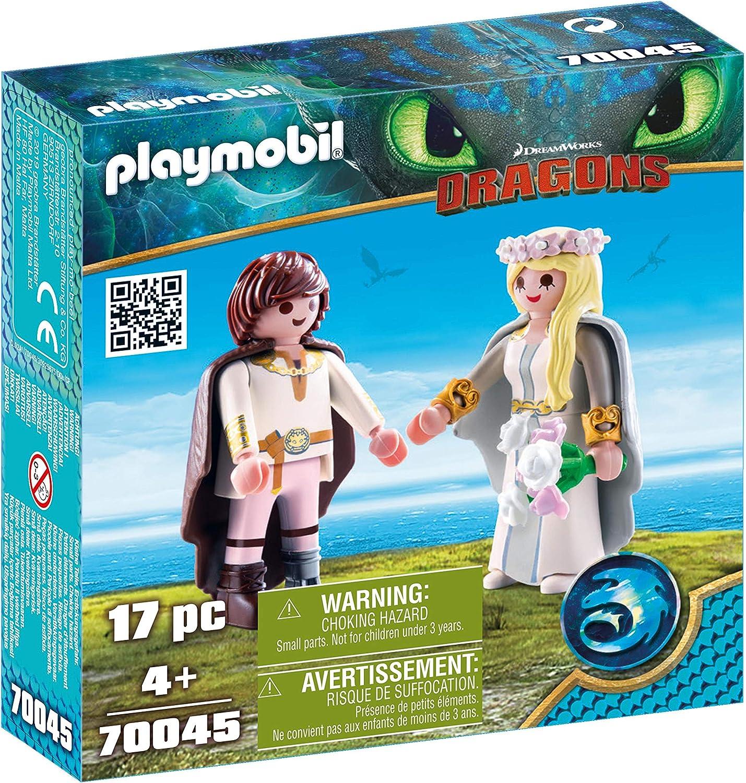 PLAYMOBIL- HIPO y Astrid Juguete, Multicolor, Dimensions: 14.2 x 14.2 x 4.1 cm(LXWXH) (geobra Brandstätter 70045)