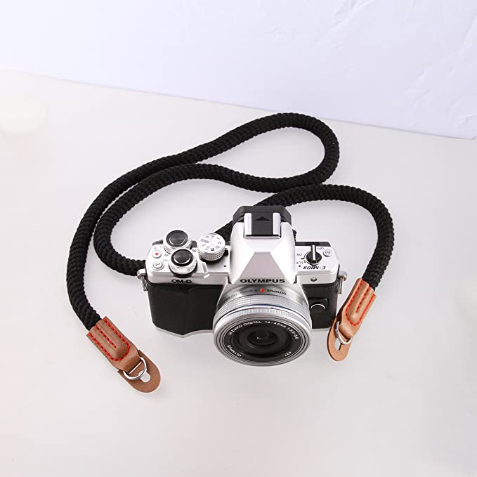 Fotga 29 Brown Cutton Vintage Simple Soft Camera Hand Grip Wrist Strap for Canon Nikon Sony Samsung Panasonic Olympus Leica Pentax Fujifilm DSLR