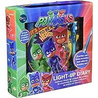 Berry Hip Diario Light Up de PJ Masks con Candado y Pluma con Linterna