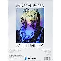 "Yasutomo JMP200 20 Sheet Multi-Media Mineral Paper Pad, 9"" by 12"", White"