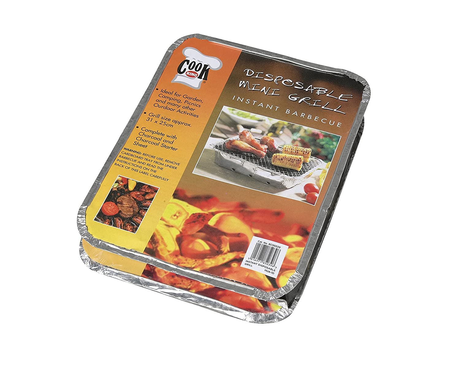 Premier Decorations BC95039D Disposable Instant Barbecue Grill (Pack of 2)