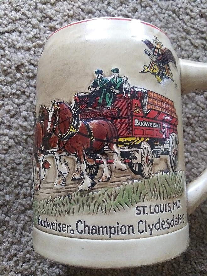 Vintage Budweiser CS74 1987 Clydesdale Stein 1st in Series