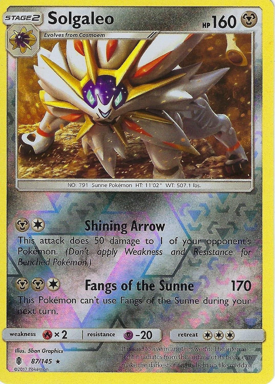 Pokemon Sun & Moon Guardians Rising Solgaleo 87/145 Reverse Holo card: Amazon.es: Deportes y aire libre