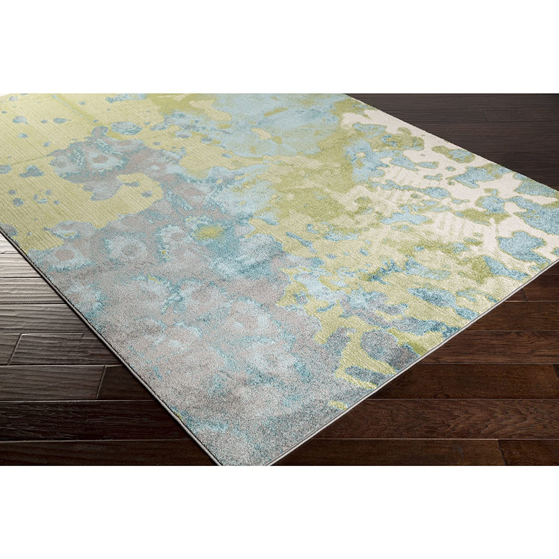 Amazon.com: aberdine abe8015 área alfombra en verde azulado ...