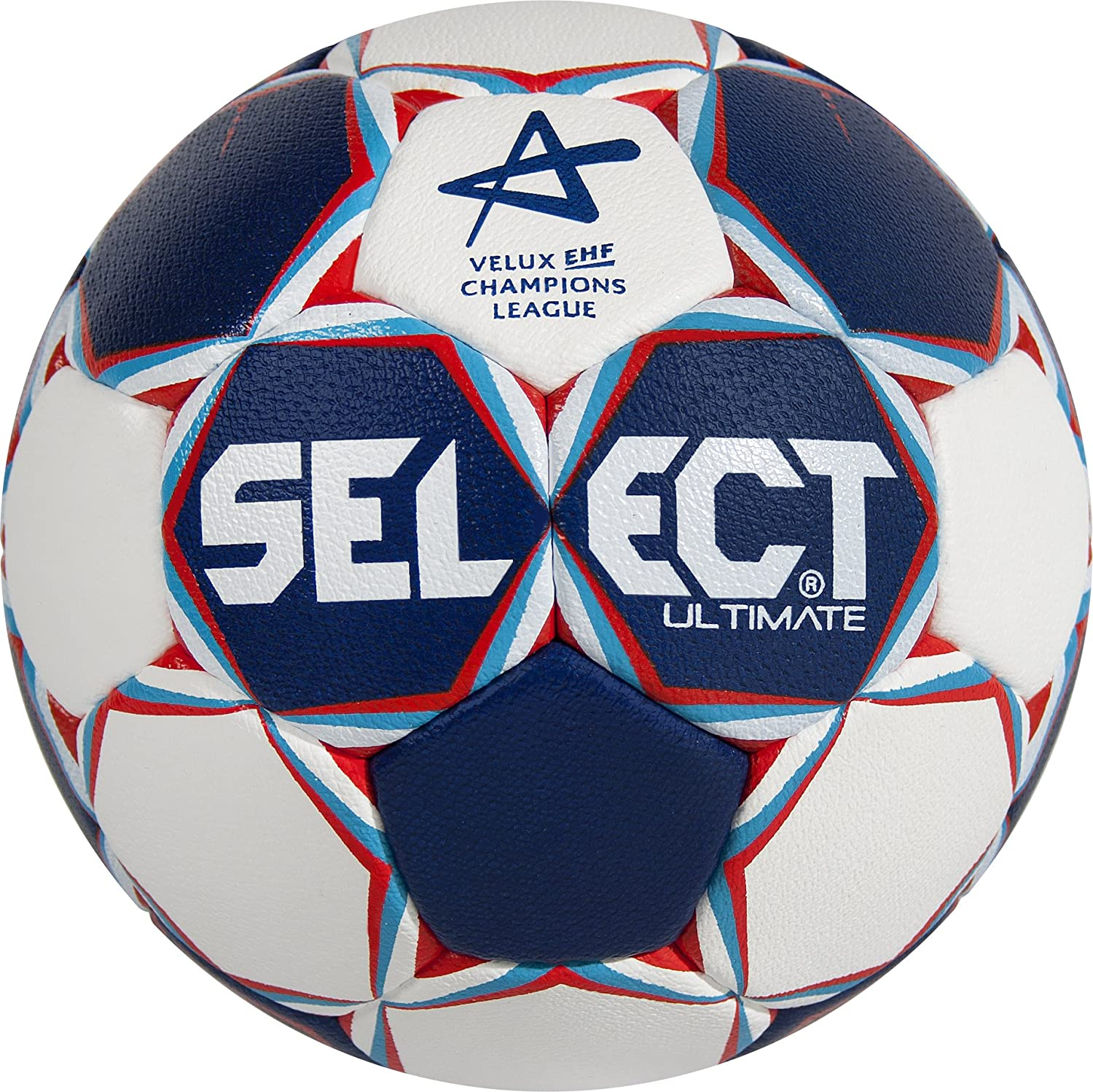 SELECT Balón de Balonmano Ultimate CL, Blanco/Azul/Rojo, 3 ...