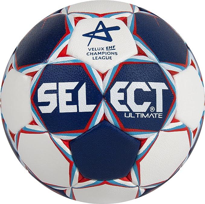 SELECT Balón de Balonmano Ultimate CL, Blanco/Azul/Rojo, 3 ...