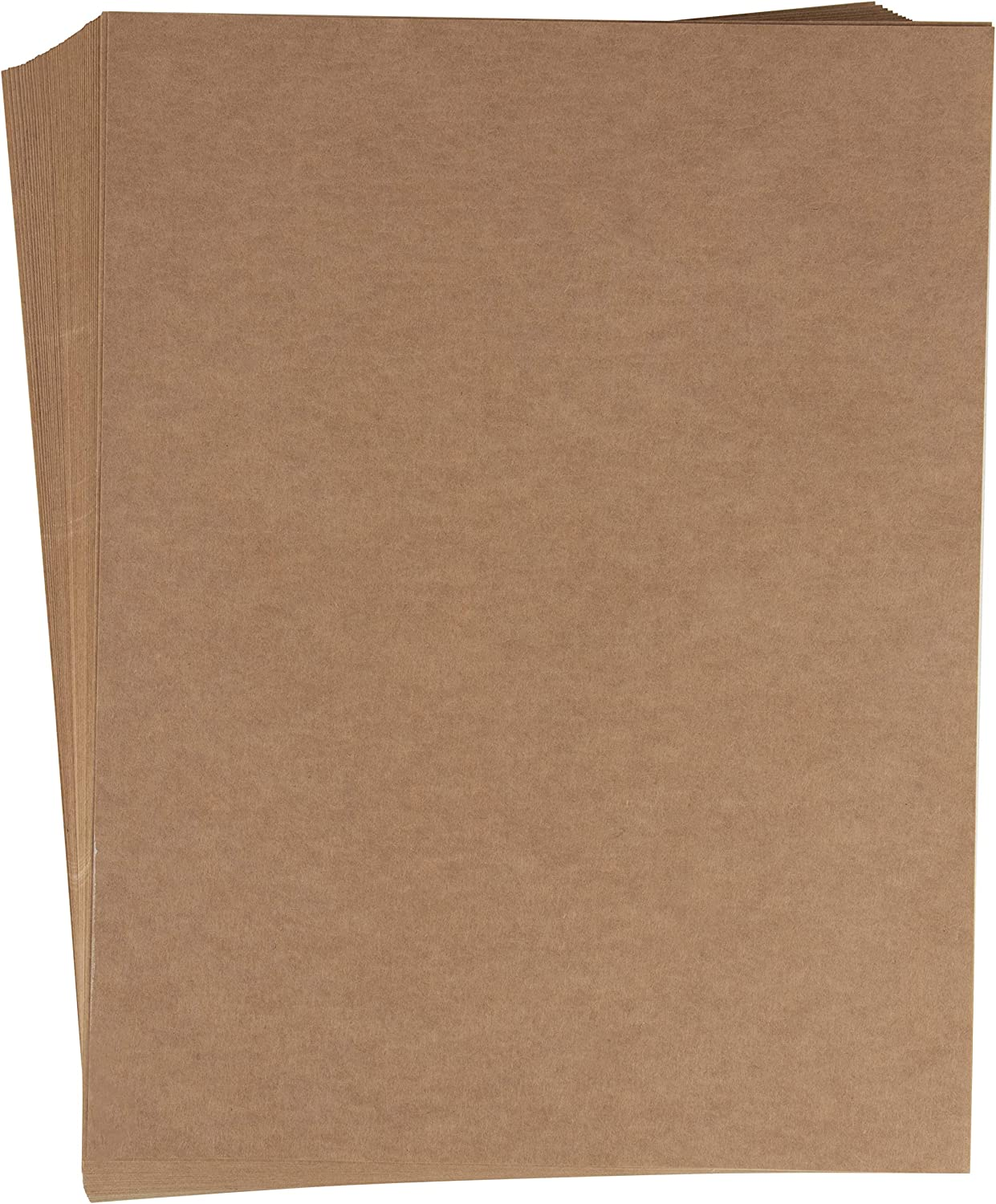Juvale Kraft Label Sticker Sheets, Letter Size (8.5 x 11 in, Brown, 48-Pack)