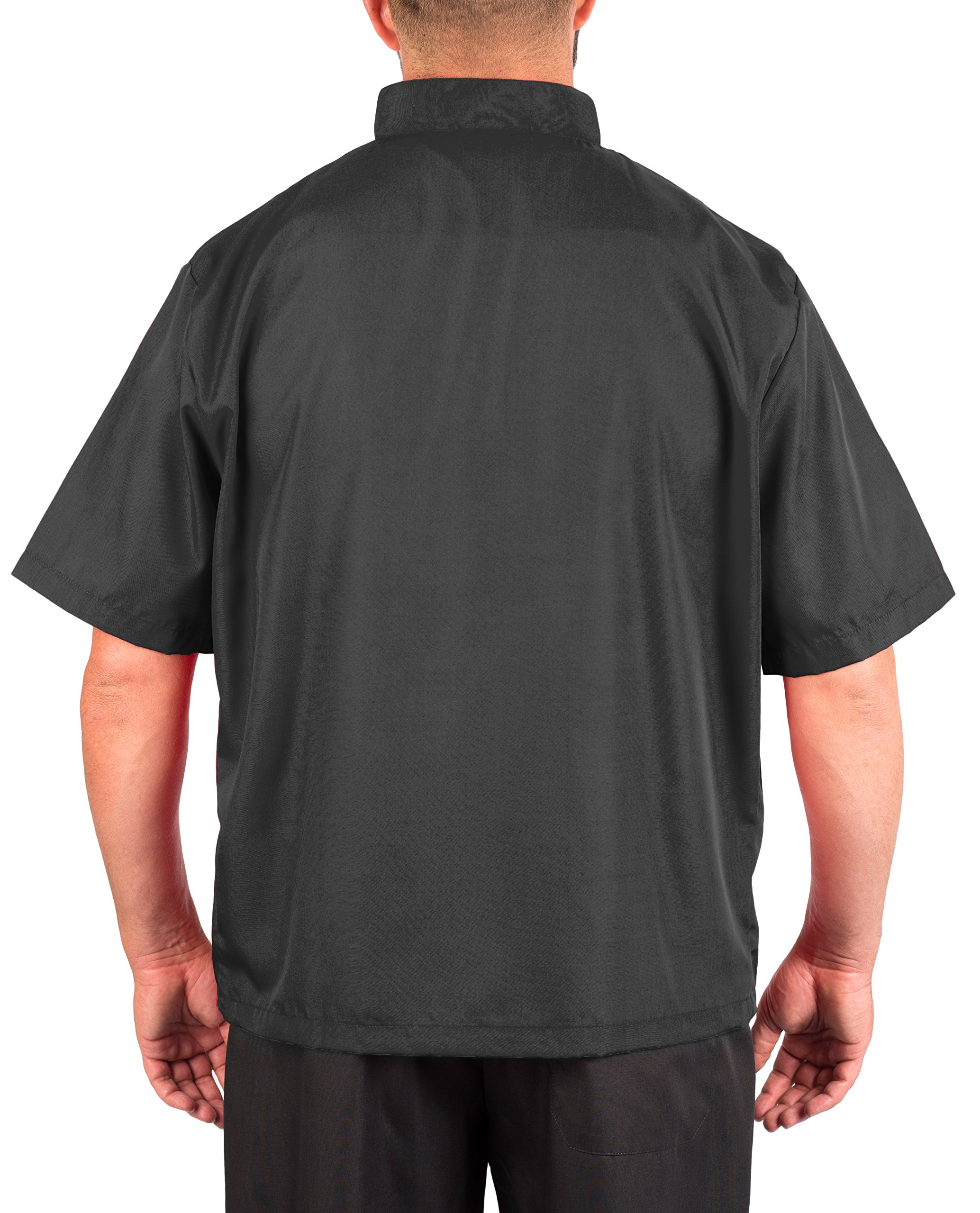 KNG Black Lightweight Short Sleeve Chef Coat by KNG (Image #2)