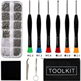 Eyeglass Repair Kit,Eyeglass Repair Tool with Stainless Steel Tiny Screws,Tweezer, Screwdrivers, Washers, Nose Pads for…