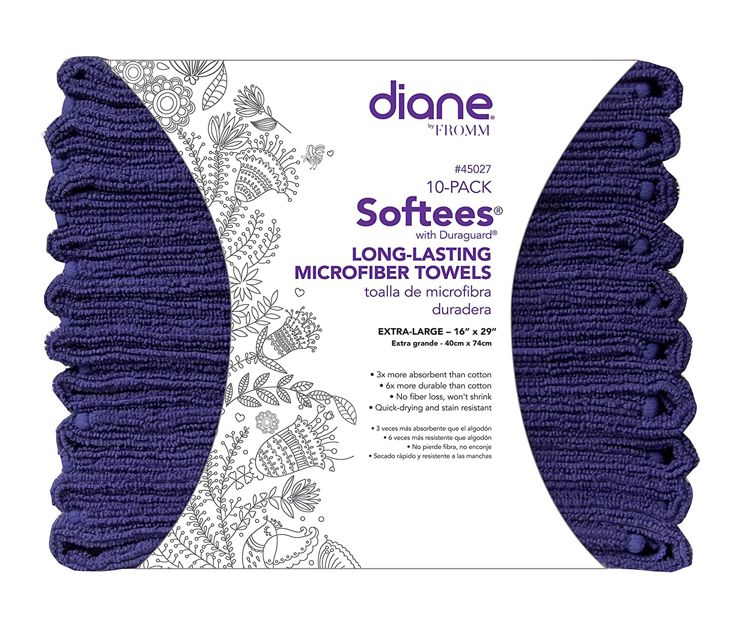 Amazon.com : Softees Towels with Duraguard, Chocolate, 10pk by Fromm International BEAUTY : Beauty