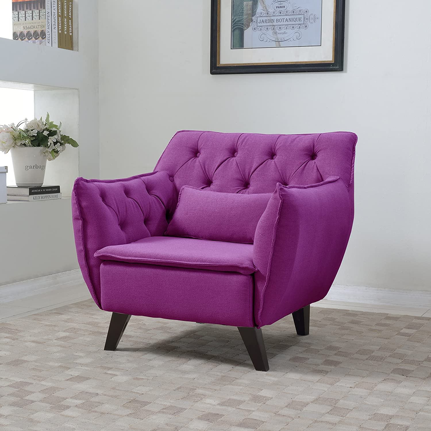 Big Purple Chair For Living Room Make It Look Royal And Luxurious