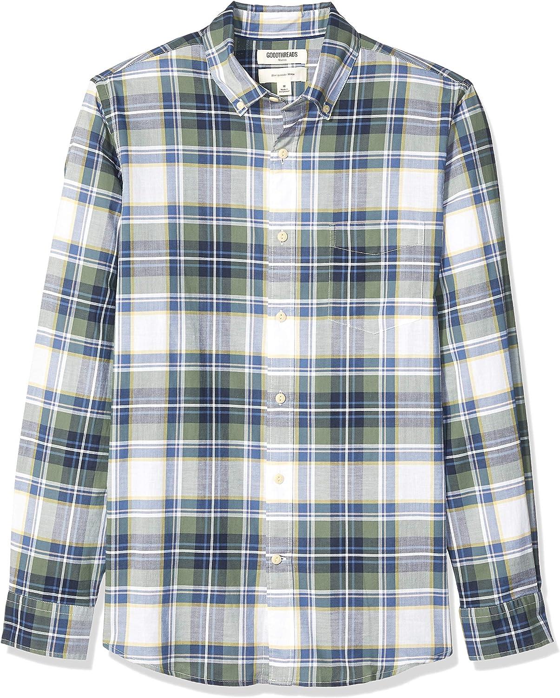Goodthreads Slim-fit Long-Sleeve Madras Shirt Hombre