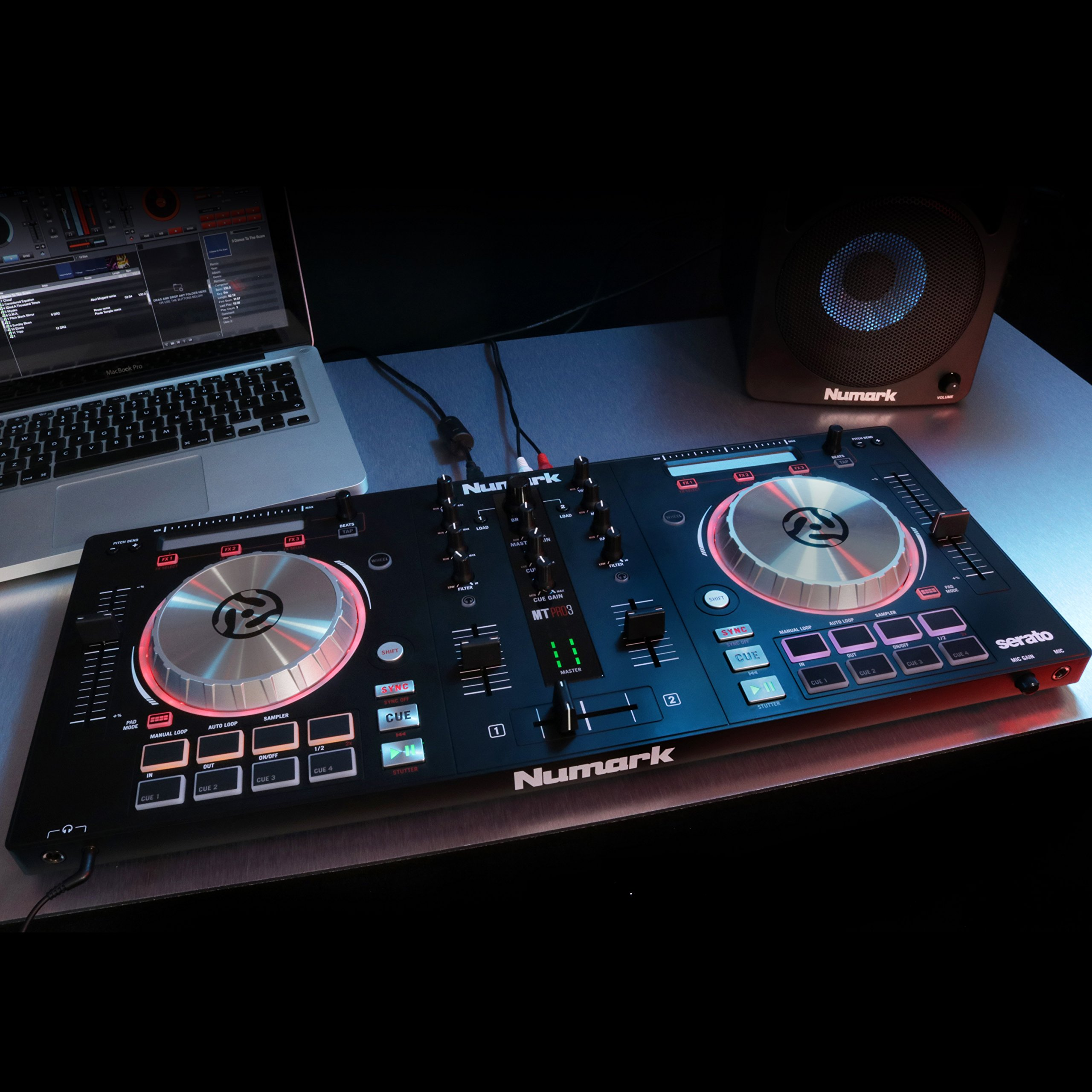 Numark Mixtrack Pro 3 | USB DJ Controller with Trigger Pads & Serato DJ Intro Download (Includes Built-In Sound Card) by Numark (Image #3)