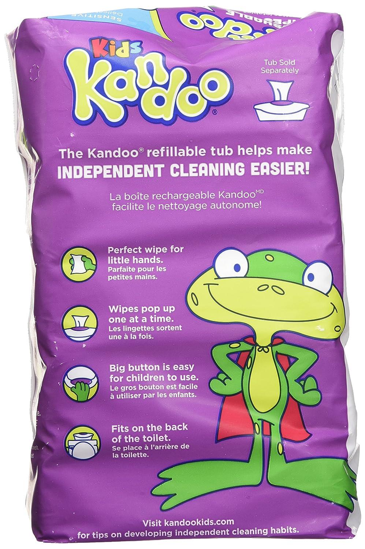 Sensitive 250-Count Kandoo Flushable Kids Wipes