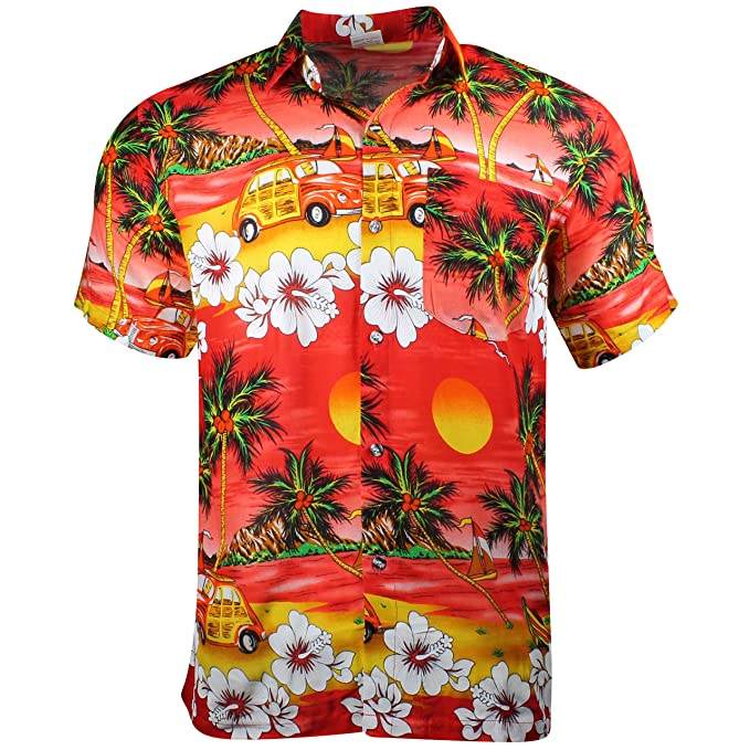 508fa4e2 Cherry-on-Top Hawaiian Shirt Summer Caribbean Party Stag Camper:  Amazon.co.uk: Clothing