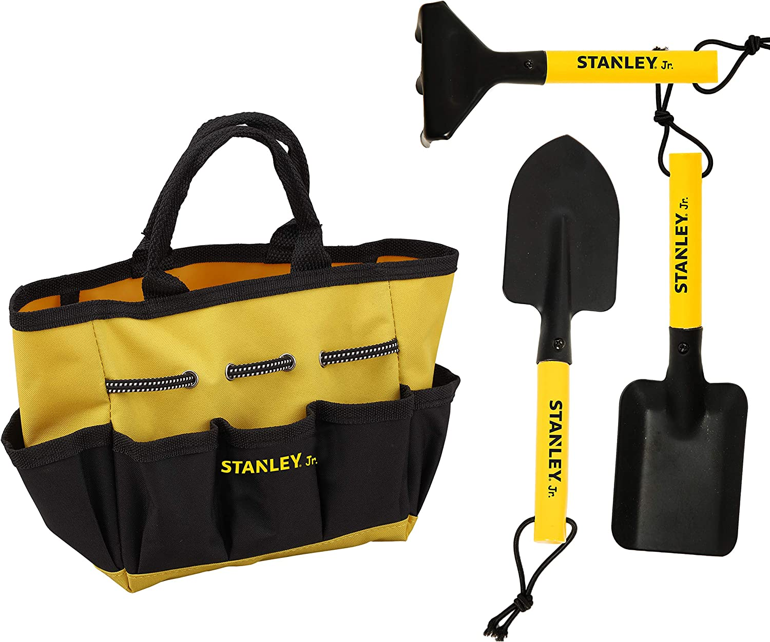 Stanley Jr - 4-Piece Garden Hand Tool Set with Bag for Kids