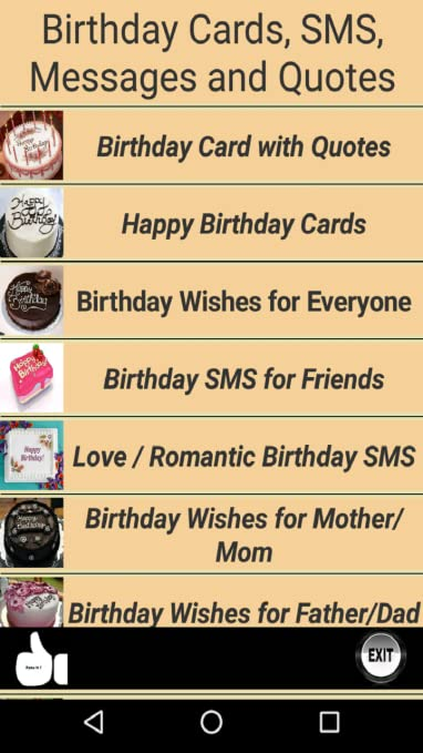 Amazon com: Happy Birthday Cards and Quotes: Appstore for