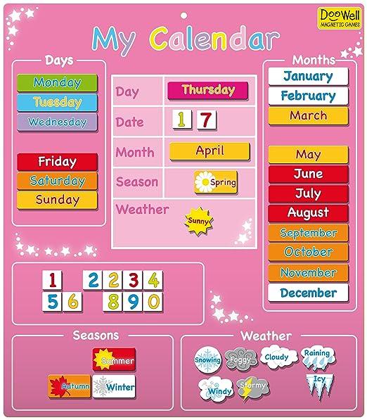 2 opinioni per Doowell- Calendario magnetico My Calendar, colore: Rosa
