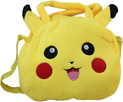 Tickles Pikachu Hand Purse and Sling Bag Stuffed Soft Plush Toy 3 litres