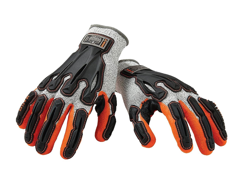 Cut Resistant Medium Ergodyne Proflex 922CR Nitrile Dipped Work Gloves Cut Level A3 Back Hand Impact Protection
