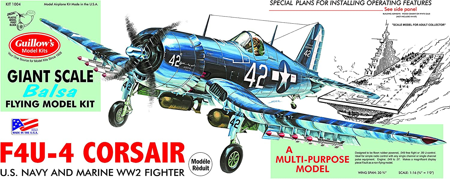 Guillow's Vought F4U-4 Corsair Model Kit