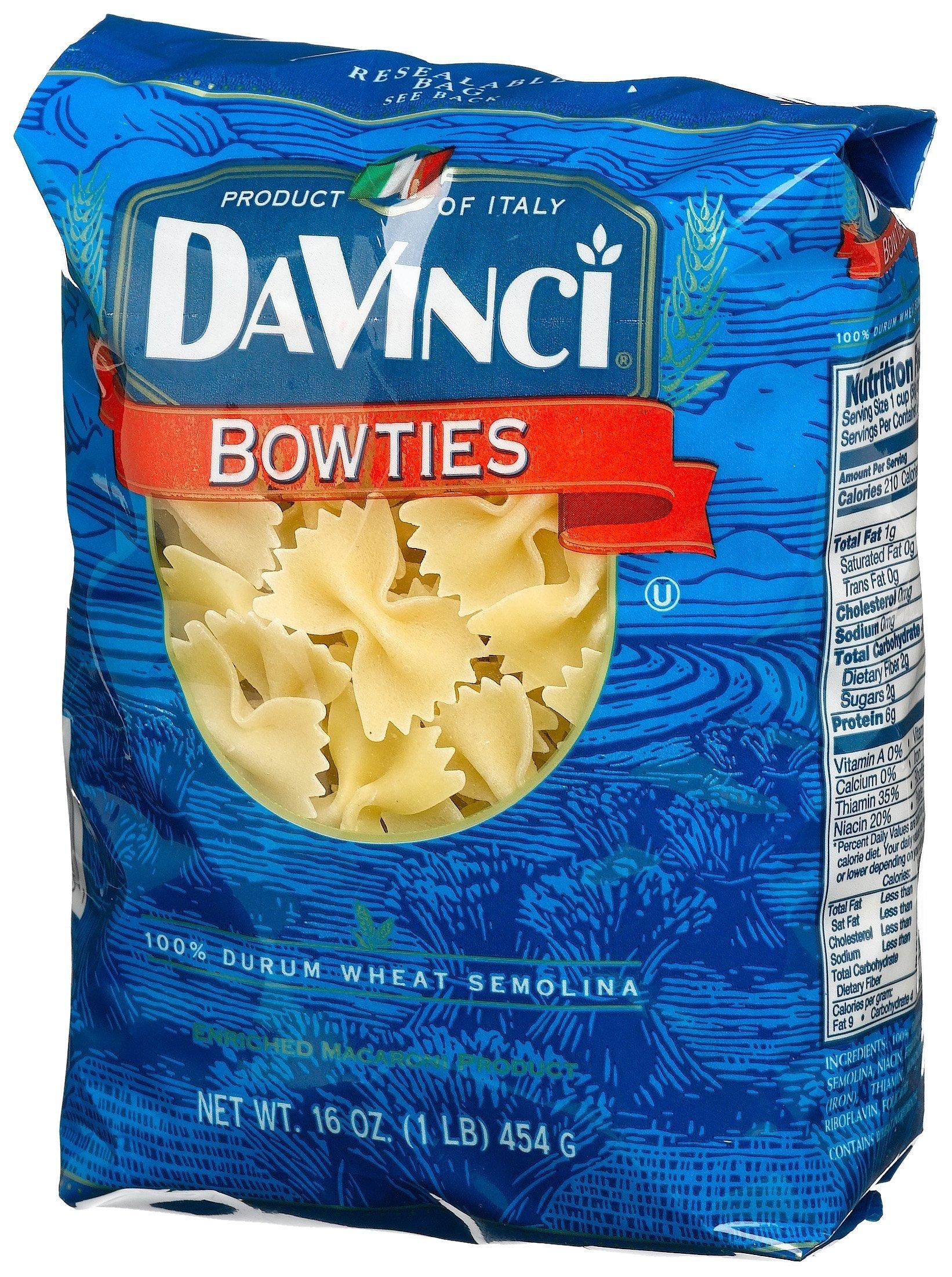 DaVinci Bowties Pasta, 16-Ounces (Pack of 12)
