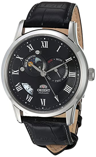 df56337fc Orient Men's FET0T002B0 Sun and Moon Analog Display Japanese Automatic  Black Watch