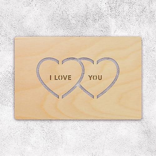 Amazon Hearts Wooden Greeting Card For Husband Boyfriend