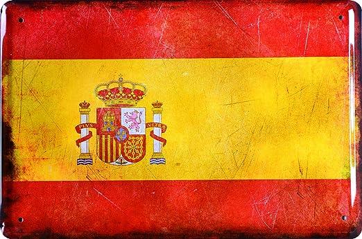 Cartel de chapa Países bandera Naciones Bandera de España ...