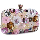Chichitop Women's Noble Flower Sequins Clutch Evening Bags Wedding Purse