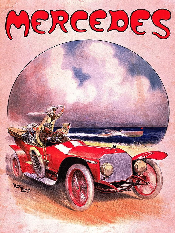 Mercedes Schild Garage Retro Vintage Metall blechschild Wandschild Neuheit Geschenk