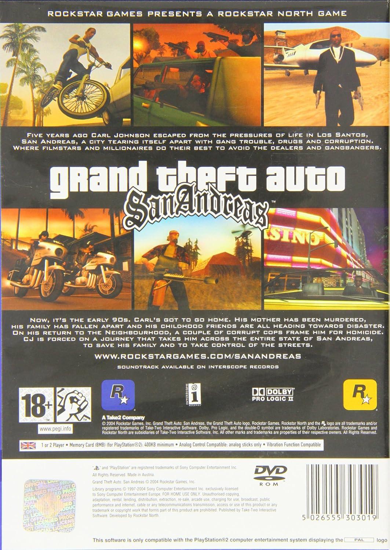 PS2 GRAND THEFT AUTO : SAN ANDREAS (EU): Amazon.es: Videojuegos