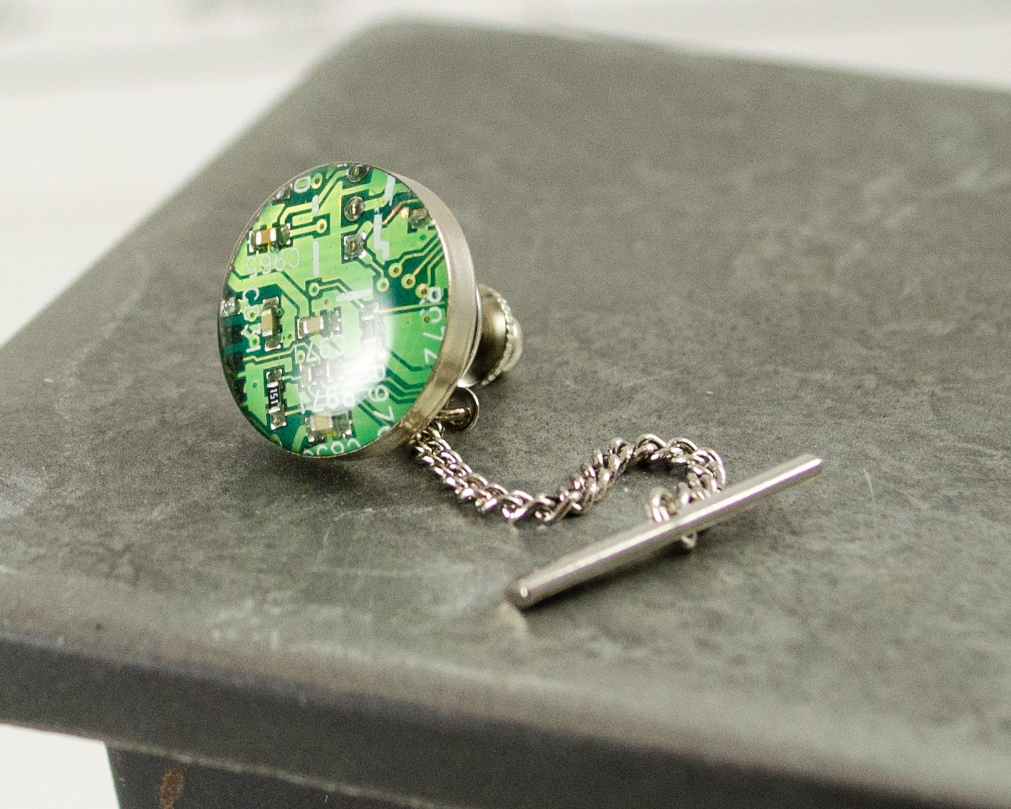 Recycled Circuit Board Tie Tack