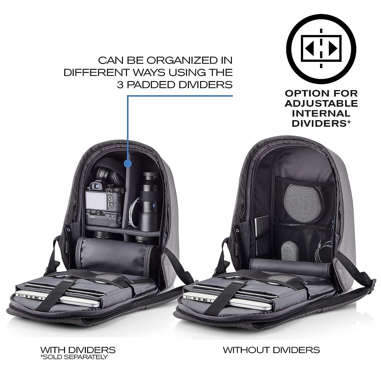 XD Design Bobby Hero Regular Sac /à Dos Antivol USB Bleu Clair Unisex