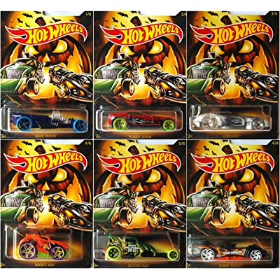 Hot Wheels 2020 Halloween 6 Car Set Bundle: Toys & Games