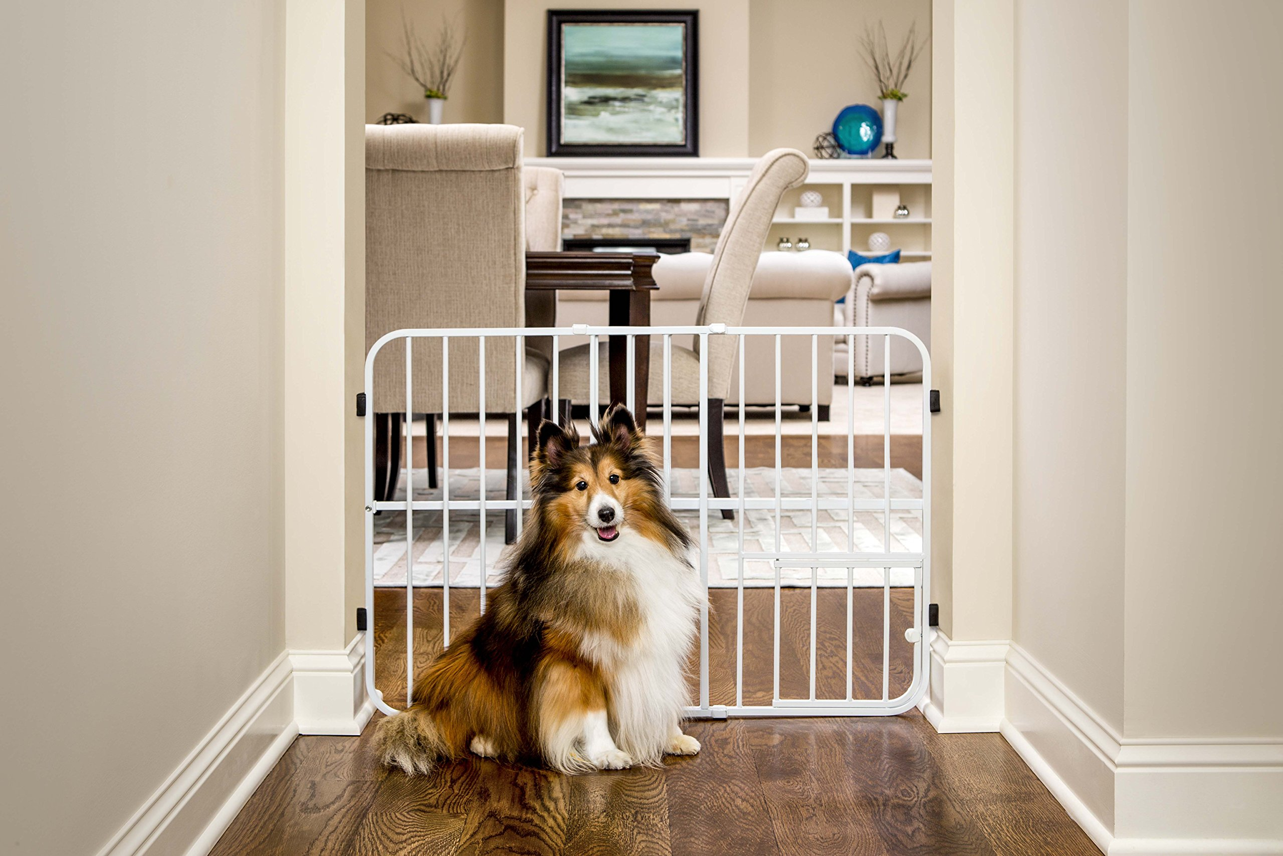 Carlson Pet Products Tuffy Metal Expandable Pet Gate, Includes Small Pet Door by Carlson Pet Products