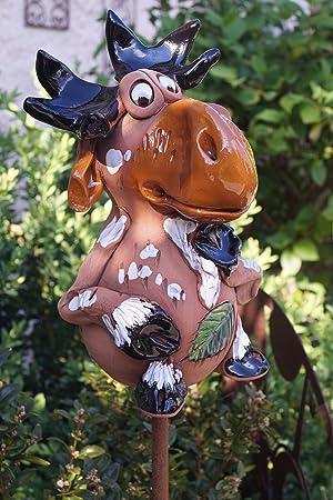 Keramik Elch Eddy Figur Garten Beet Handarbeit Dekofigur