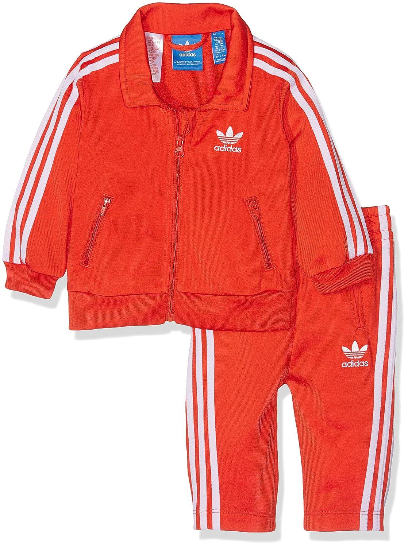 Adidas i Fb, Tuta da Ginnastica Bambino, Rosso (Rojbas/Bianco), 62 BK4143
