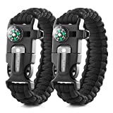 X-Plore Gear Emergency Paracord Bracelets | Set