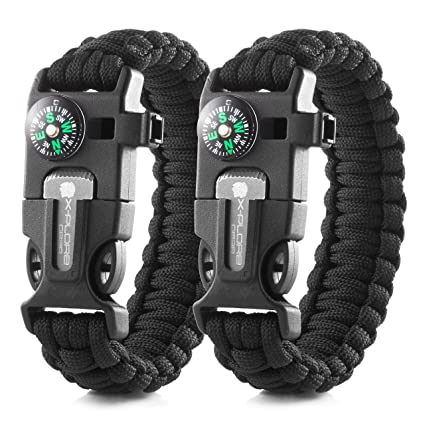 69bfa3ef8a9f94 X-Plore Gear Emergency Paracord Bracelets | Set of 2| The Ultimate Tactical  Survival