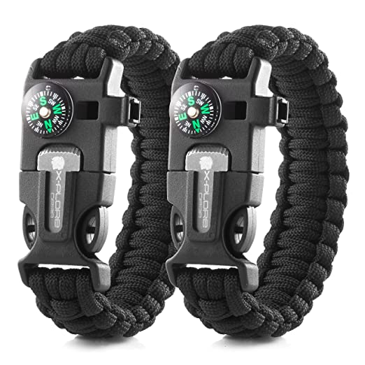 Ingenious Parachute Rope 4 Colors Emergency Hand Ring Survival Bracelet Wristband Survival Durable Outdoor Tool Camping Bracelet Hiking Pottery & Glass