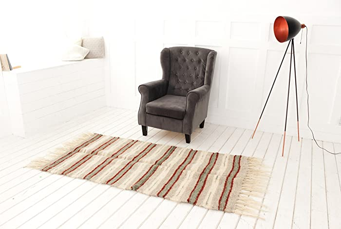 Wool Runner Rug For Living Room Hand Woven Carpet Hallway Area