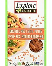 Explore Cuisine Organic Red Lentil Penne, 6 Count, 1.4 Kg