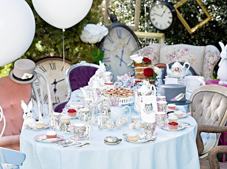Talking Tables taza y platillo con detalles de Alice en el pa/ís de las maravillas./'Truly Alice./' Carton.