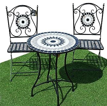 Reino Unido Almacén) CRAVOG 3pc Mosaic Bistro - Juego de jardín al ...